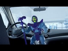 Honda and Skeletor join forces to crush He-Man, or what's going on here? http://laughingsquid.com/honda-releases-a-series-of-odd-music-videos-featuring-toys-like-skeletor-and-gumby/