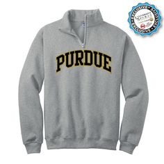 any Purdue sweatshirt? mom make dad specify whether it's pull-over, zip-