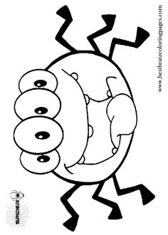 preschool halloween spider coloring pages - photo#10
