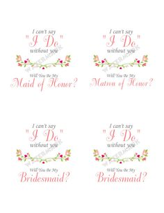 image about I Can't Say I Do Without You Free Printable titled 10 Least complicated Bridesmaids_HappilyEverAlva pics inside of 2015