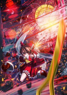 Remilia Scarlet, Reimu Hakurei (Touhou 6 - Embodiment of Scarlet Devil)