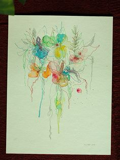 watercolor...tattoo inspiration I want this as a tattoo!!!!! It will happen
