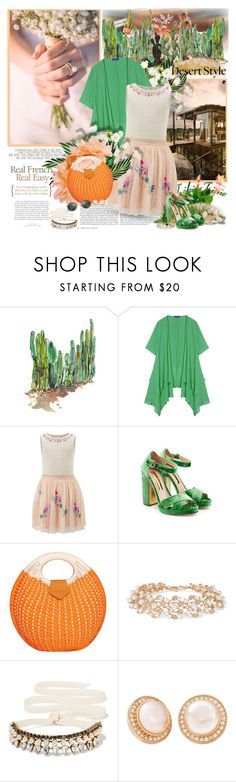 """Desert style....."" by purplecherryblossom ❤ liked on Polyvore featuring WALL, Kershaw, Monsoon, Rupert Sanderson, Kenneth Jay Lane, Erickson Beamon, Misahara and Ray-Ban"