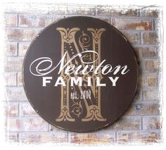 Personalized Established Family Name Sign  by RumpelstreetBoutique, $105.00