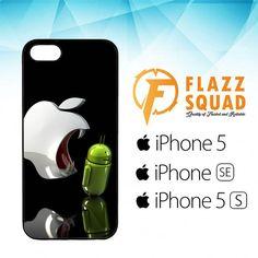 Apple Vs Android Logo E1043 iPhone 5|5S|SE Case