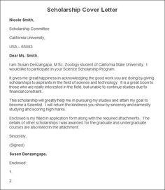 Scholarship Application Letter Sample  HttpResumesdesignCom
