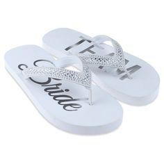 846f9d3b493522 Women s Capelli Team Bride Embellished Flip Flop Sandals - White 11 Bride  Flip Flops