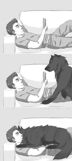This is my Shiloh when I read.