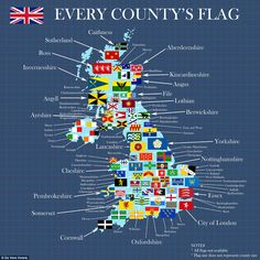 This map, produced by De Vere Hotels, places all the county flags on a map of the UK Map Of Britain, Kingdom Of Great Britain, Uk History, British History, History Of England, Ancient History, County Flags, United Nations Peacekeeping, Liverpool