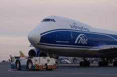Air Bridge Cargo Boeing 747 freighter pushback