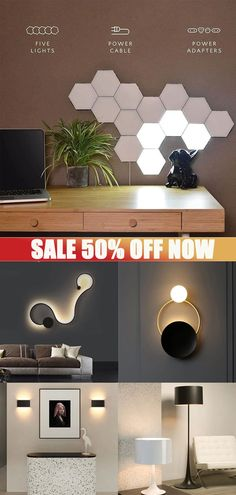 Luxury Lighting, Interior Lighting, Wall Lamps, Wall Lights, Deco Studio, Room With Plants, Game Room Design, Kitchen Room Design, Simple House