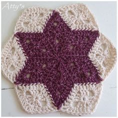 Atty's : Star Blanket Update a natural color around them still using the granny diamond