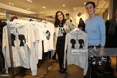 Stacy Igel (L) and Sarah Andelman Present 'Boy Meets Girl' Collection at Colette on November 12, 2015 in Paris, France.