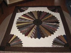 Necktie Quilt - I don't know what the design is called but I am going to make one - it is gorgeous!!!!!