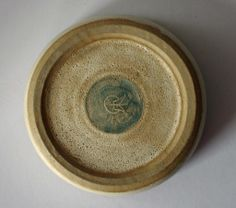 BARBARA COLLS Studio Pottery Lidded Box with Geese/Duck Figure Finial - Norfolk - apple mark