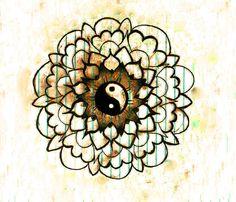 ➳➳➳☮American Hippie Art - Yang Yang Mandala