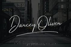 Darcey Oliver – beautiful casual script font with commercial license. Darcey Oliver is a elegant looking signature font, perfect for adding some romance and charm to your designs. This script functions most strongly as a display or headline font. Suitable for logos, logotype, branding, wedding invites