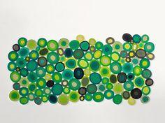Tapete feito à mão geométrico ELLISSI by Paola Lenti