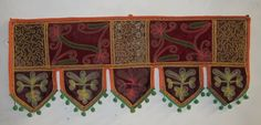 INDIAN COTTON VELVET TORAN WINDOW VALANCE VINTAGE EMBROIDERY DOOR HANGING VR78 #Handmade