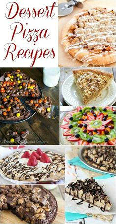 Magnificent Dessert Pizza Recipe Collection – Several mouthwatering dessert pizzas for your next party or family fun night! The post Dessert Pizza Recipe Collection – Several mouthwatering dessert pizzas for your … appeared first on Trupsy . Brownie Desserts, Sweet Desserts, Just Desserts, Sweet Recipes, Delicious Desserts, Yummy Food, Light Desserts, Brownie Pizza, Cookie Pizza