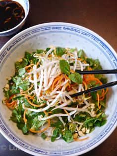 Bun Chay Vegetarian Vermicelli Noodle Salad - Just had this with mock duck at Pho 79 in Minneapolis. So good, so refreshing! I need to figure out how to duplicate it - I think I'll start with this for the base and add some curried or braised seitan.