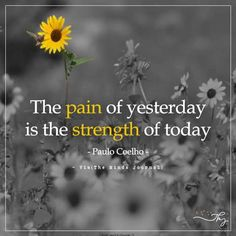 The pain of yesterday is the strength of today - http://themindsjournal.com/the-pain-of-yesterday-is-the-strength-of-today/