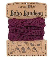 Boho Bandeau - Eggplant Crochet
