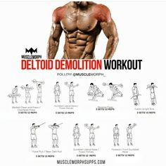 Deltoid workout - Top 5 Muscle Building Workouts You Should Be Doing – Deltoid workout Fitness Workouts, Fitness Gym, Tips Fitness, Weight Training Workouts, Muscle Fitness, Shoulder And Trap Workout, Deltoid Workout, Traps Workout, Muscle Building Workouts