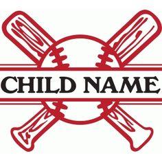 Silhouette Design Store: split baseball name plate