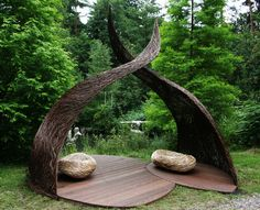 Seed Sitting : 2009. A garden structure concept by Spencer Jenkins, was a highly recommended winner by the RHS.