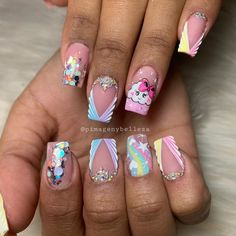 J Nails, Prom Nails, Love Nails, Pretty Nails, Finger, Toe Nail Designs, Color Rosa, Short Nails, Summer Nails