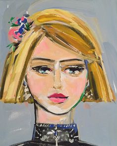 Girl Portrait Painting canvas art 11x14 woman by Marendevineart