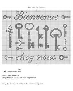 broderie point croix grilles - Bing Images