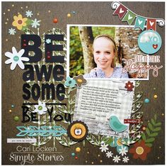 Be Awesome - Scrapbook.com - Made with the Simple Stories Pumpkin Spice collection.