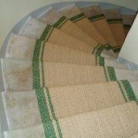 Treppenteppich Kokosläufer mit eingewebter Bordüre