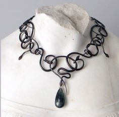 Necklace |  Gabriella Kiss.. I have just the bead to use on a piece like this