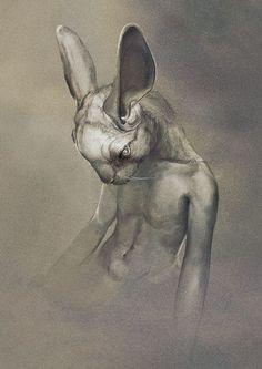 Human body animal head by Ryohei Hase