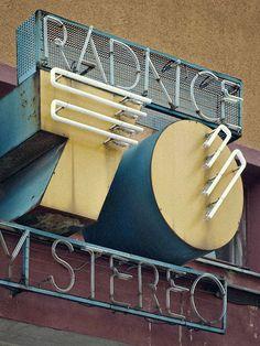 retro modern signage