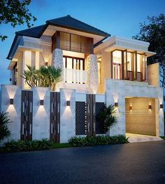 Brilliant Modern Home Design - Architecture.Leave a comment and see what other people like.Most people like several home architectural styles. Modern Architecture House, Modern House Design, Amazing Architecture, Architecture Design, Compound Wall Design, Prefab Modular Homes, Bali House, Home Room Design, Villa Design