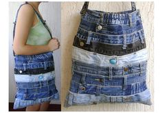 Recycled Jeans waistband Bag