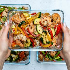 Super-Easy Shrimp Stir-Fry for Clean Eating Meal Prep! - Clean Food Crush Super-Easy Shrimp Stir-Fry for Clean Eating Meal Prep! Stir Fry Meal Prep, Lunch Meal Prep, Healthy Meal Prep, Healthy Eating, Simple Meal Prep, Clean Eating Lunches, Meal Prep Dinner Ideas, Fitness Meal Prep, Clean Eating Foods