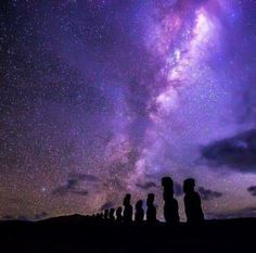 Moai Under the Milky Way at Ahu Tongariki, Easter Island - Category:Milky Way - Wikimedia Commons Galaxy Photos, Galaxy Pictures, Galaxy Images, Night Photography, Travel Photography, Photography Ideas, Milky Way Photos, Easter Island, Travel Design
