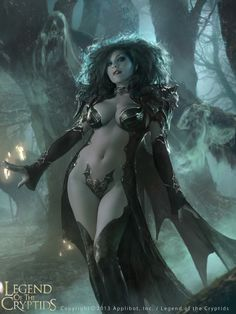 Vampire Queen Fantasy Art for LEGEND OF THE CRYPTIDS — GeekTyrant
