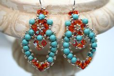 Mexican Embroidery Lace Chandelier Earrings by createdbycarla, $44.00