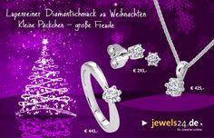 Lupenreiner Diamantschmuck zu Weihnachten. Kleine Päckchen - große Freude. In unserem Online Schmuck Shop www.jewels24.de finden Sie hochwertigen Diamantschmuck -- direkt vom Hersteller aus Idar-Oberstein. Machen Sie Ihren Liebsten zu Weihnachten ein tolles Geschenk, ganz egal ob ein schicker Ring, eine edle Kette oder schöne Ohrringe - Diamantschmuck kommt immer gut an. #weihnachtsgeschenk #diamantschmuck #geschenkidee