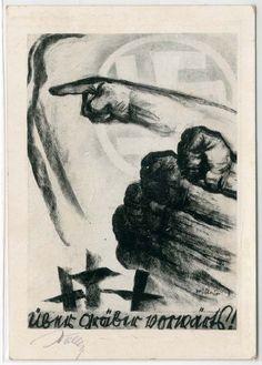 """SA-OPFERKARTE BERLIN 1928!!! - Nr. 1 """"Über Gräber Vorwärts"""