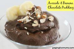 Avocado & Banana Chocolate Pudding