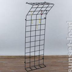 Garderobe Gitter alte wand garderobe string draht gitter weiss haken breit 80 cm alt
