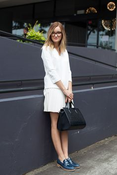 15 Street-Style Snaps From Down Under #refinery29 -- all white + loafer