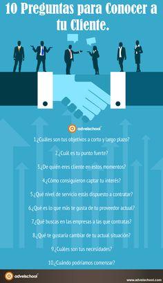 10 preguntas para conocer a tu cliente  #infografía #infographic #marketing